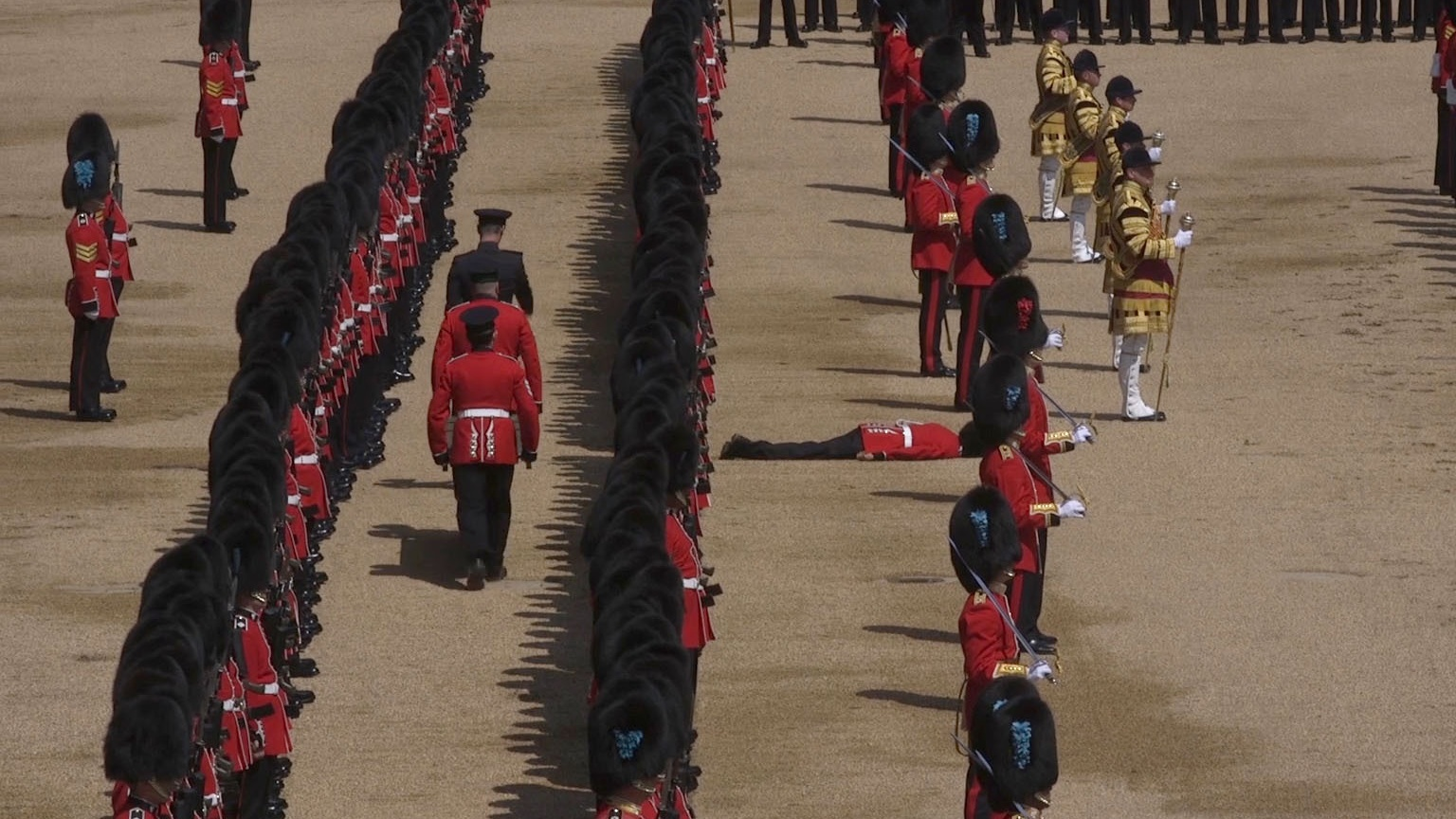 Trooping the color' in London for queen's official birthday